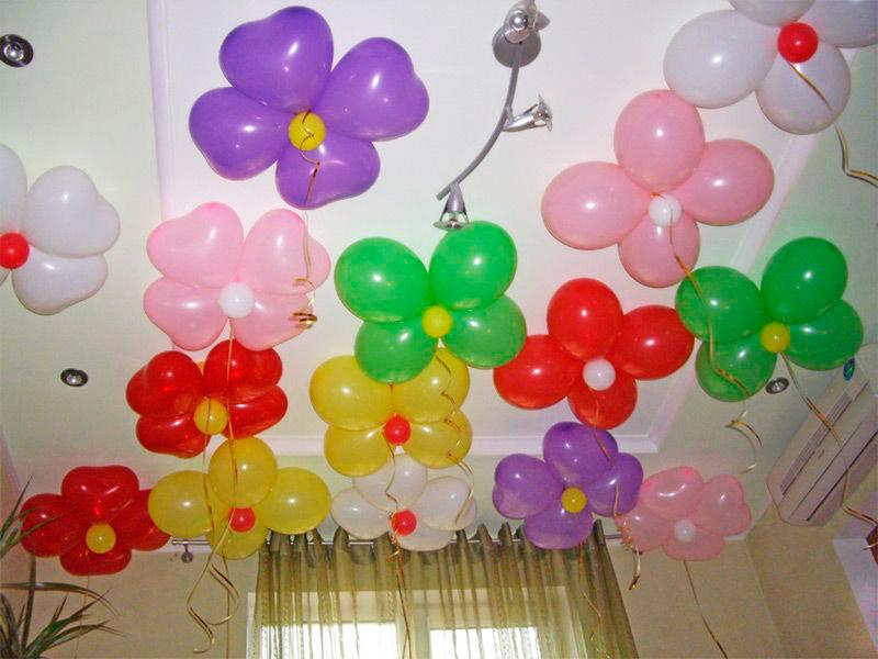 Воздушные шары украшение своими руками