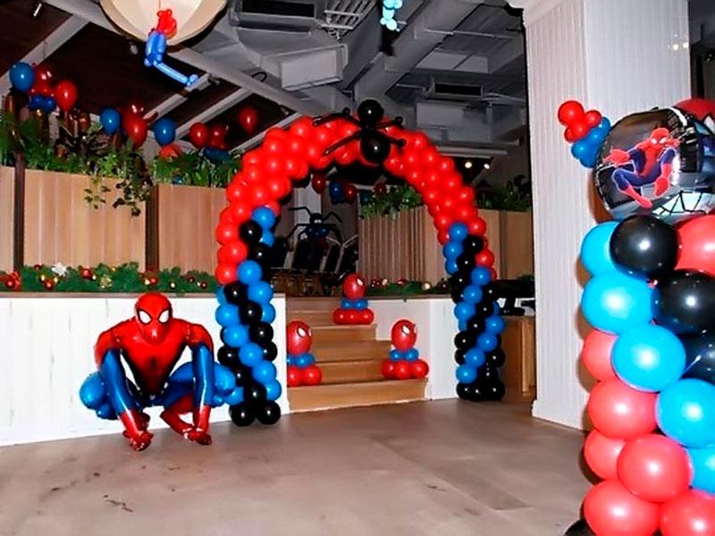 День рождения в стиле человек паук оформление
